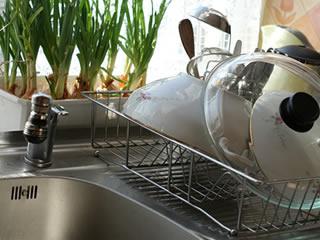 水垢掃除をしてピカピカになったキッチン