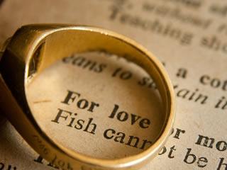 別居中の妻の結婚指輪と愛について書いている本