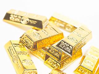 チープなゴールドメッキの金塊おもちゃ