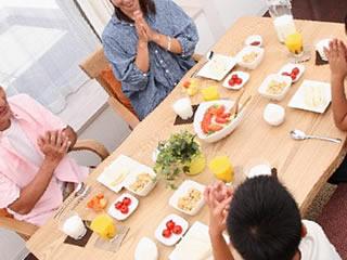 栄養満点の食事が元気の素