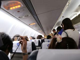 飛行機内の一般席