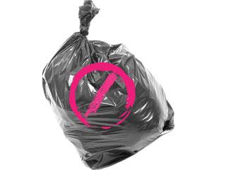 ゴミ袋にNGマーク