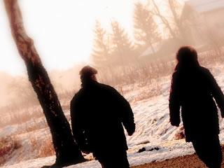 田舎の伐採地で新しい暮らしをする夫婦