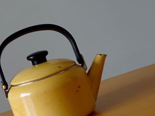 多めに沸かされた掃除に使う熱湯