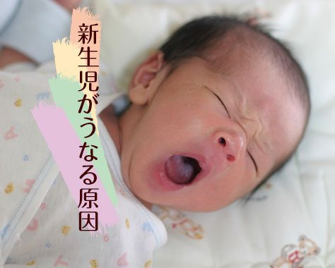 新生児がうなる10の原因と対処法/吐く/寝ない/病気
