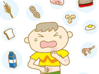 食品と蕁麻疹に泣く子供