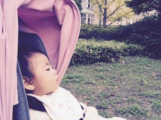 ベビーカーにのった赤ちゃん