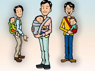 育児する男性