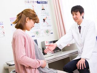 診察を受ける妊婦