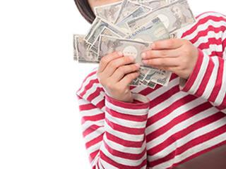 へそくりを見せつける貯金が趣味の子供