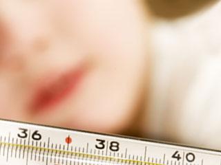 体温計と子供