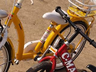 自転車に乗れない子供が練習したあとの自転車