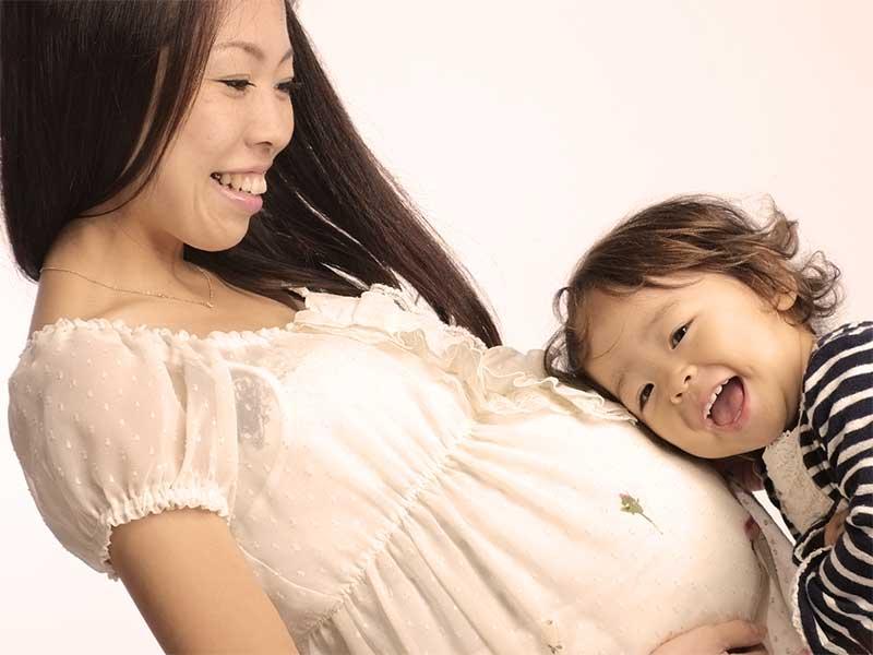 二人目を妊娠中の妊婦さん