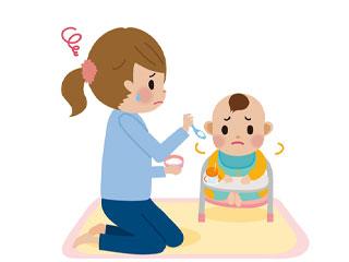 離乳食を食べようとしない赤ちゃん