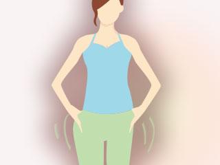 腰を廻す運動