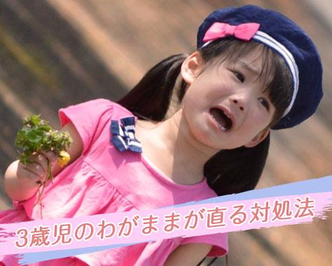 3歳のわがままどこまで対応する?泣く子に効く7大しつけ法