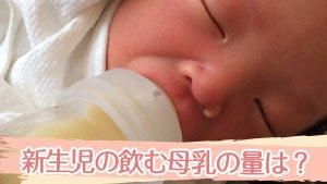 新生児が一回・一日に母乳を飲む量がわからない時の目安量