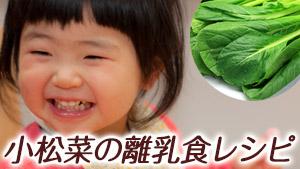 離乳食の小松菜で美男美女に!茎はいつから?段階別レシピ