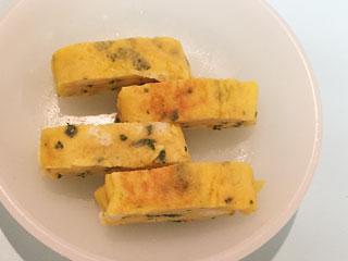 小松菜入り卵焼き(作りやすい分量)