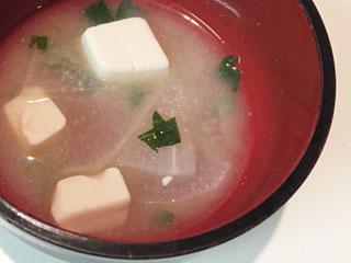 小松菜・大根・豆腐のお味噌汁