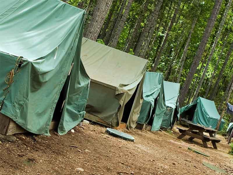 ボーイスカウトのキャンプ