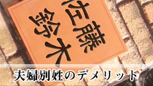 夫婦別姓のデメリット~日本にその制度が導入されたら?