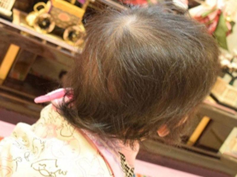 髪の毛が長めの女の子