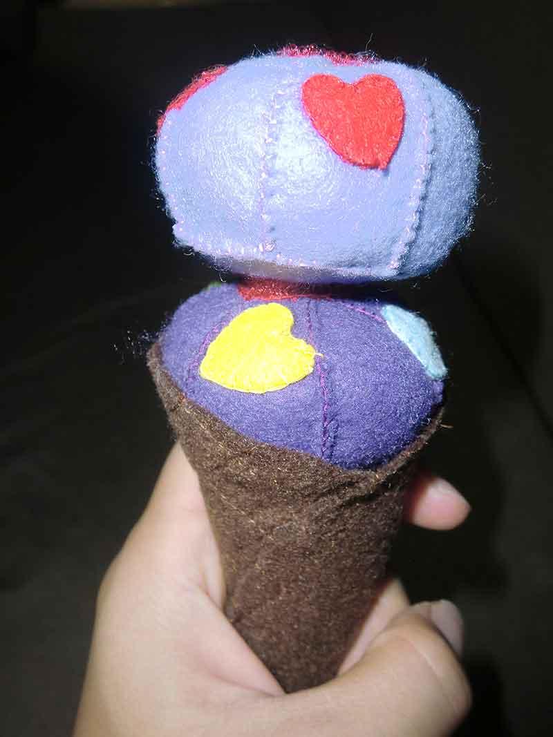フェルトでできたアイスクリーム