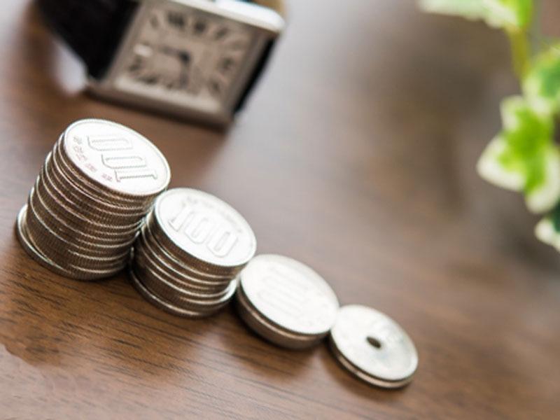 並べられた小銭