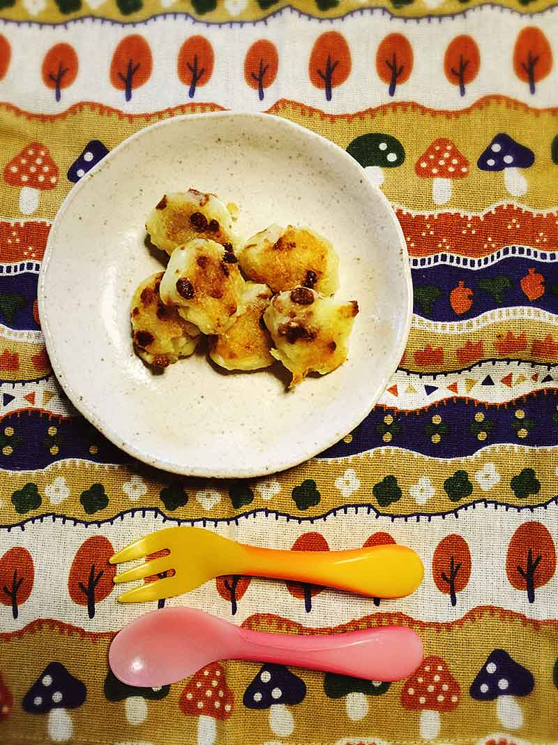納豆とポテトチーズの手作りおやき