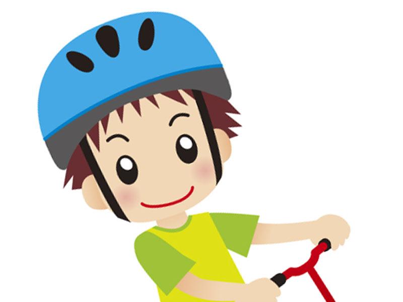 ヘルメット被っている子供のイラスト