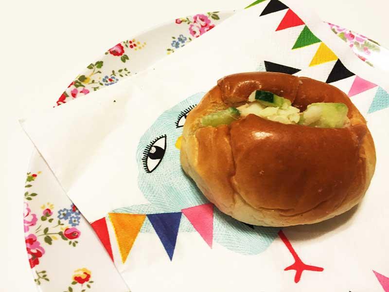 ロールパンのポテトサラダサンド