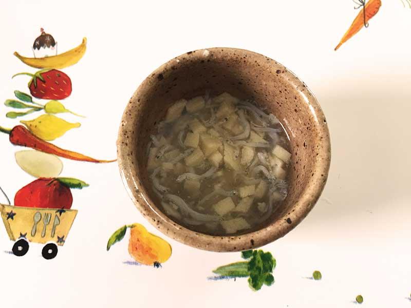 高野豆腐としらす干しのとろとろ煮