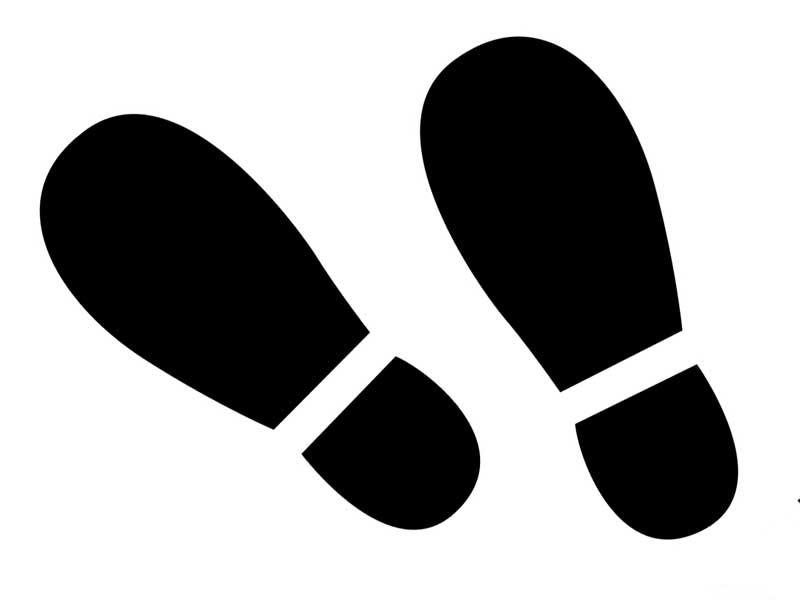 黒い足跡のイラスト