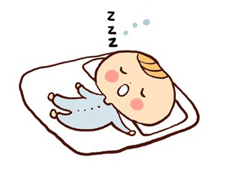 熟睡をしている赤ちゃんのイラスト