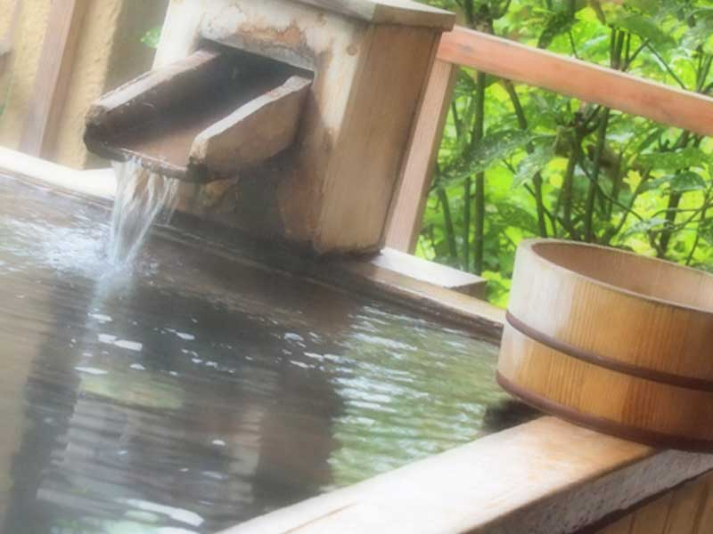 温泉の一角