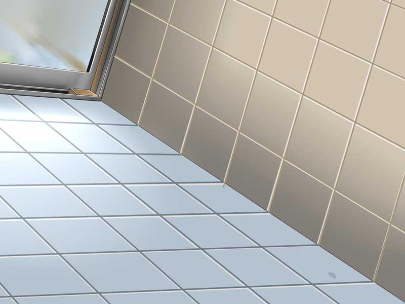 滑りそうな浴室の床