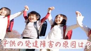 子供の発達障害を正しく理解するため~タイプ別特徴や原因