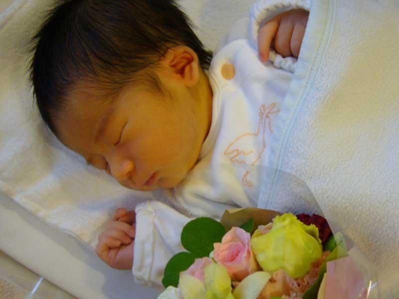 安産で生まれた赤ちゃん