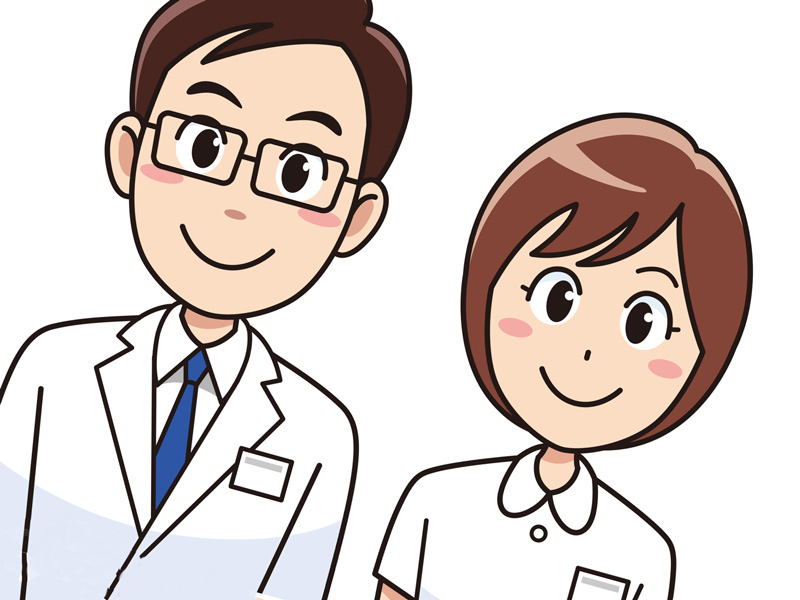 医者と看護婦さんのイラスト