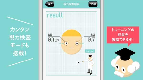 視力ケア アイトレ3D(アプリ画面キャプチャ)