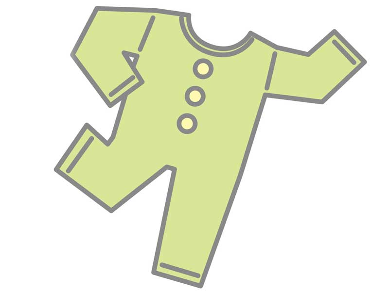 長袖の子供服のイラスト