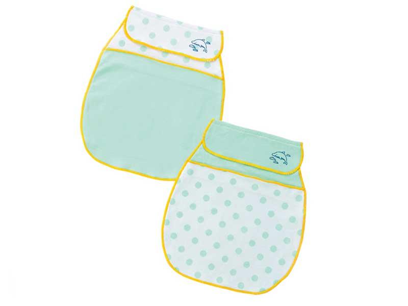 UVカット&冷感素材の汗取りパッド2枚組(ミント)