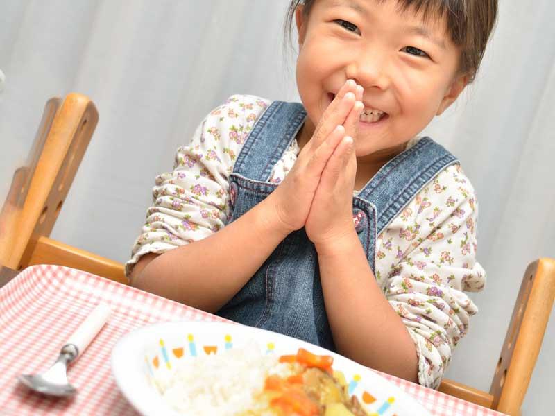 食事のマナーが正しい子供