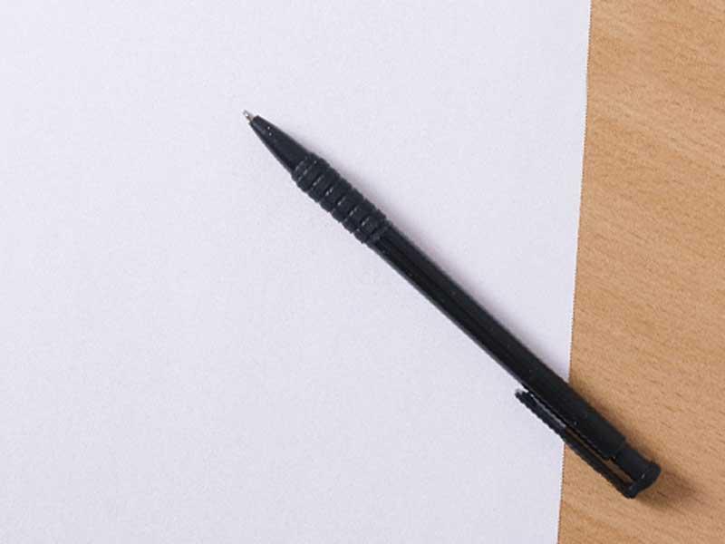メモ用紙とペン