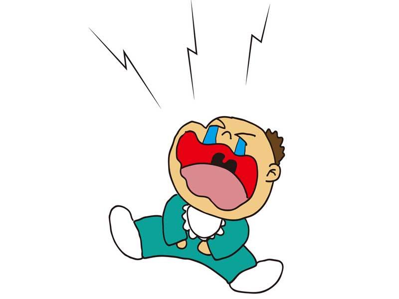 泣く赤ちゃんのイラスト