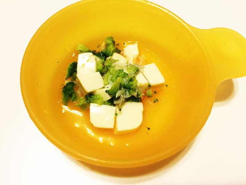 豆腐のしらすとブロッコリーあんかけ