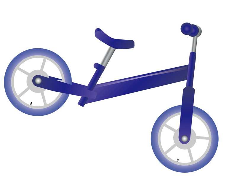 ランニングバイクのイラスト