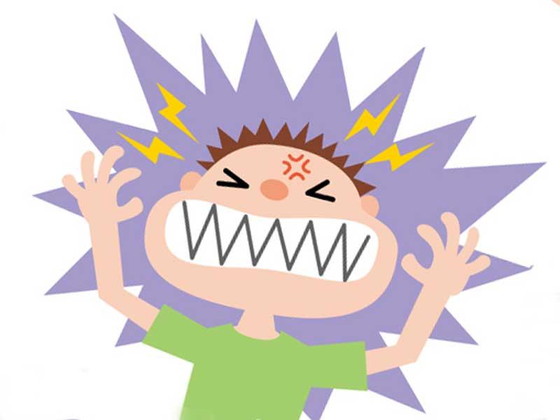 ストレスを感じる子供のイラスト