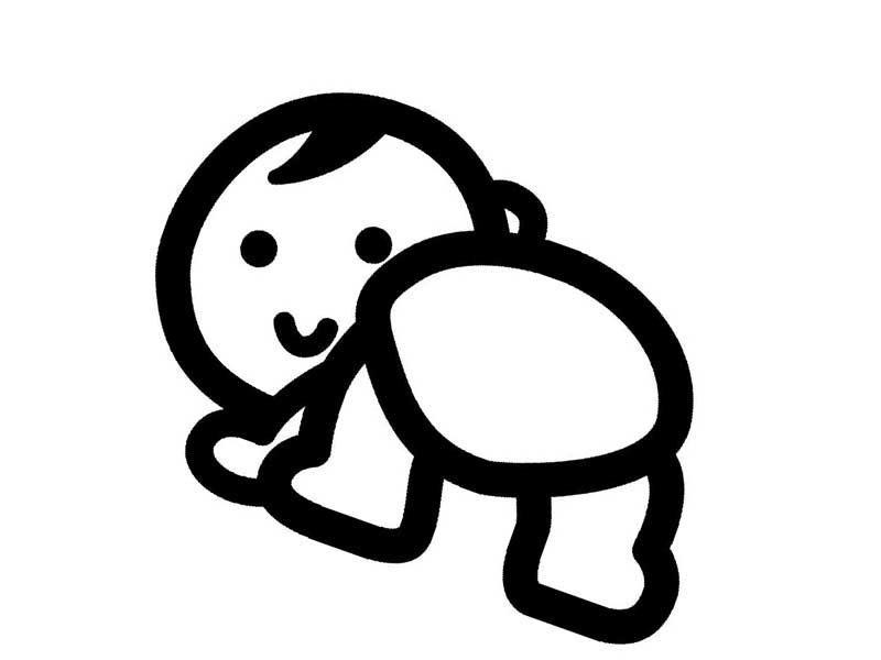 赤ちゃんのお尻のイラスト